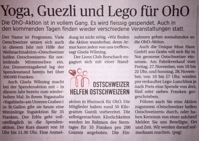 St. Galler Tagblatt, 21. November 2015
